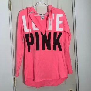 Victoria's secret PINK Neon Pink Hoodie